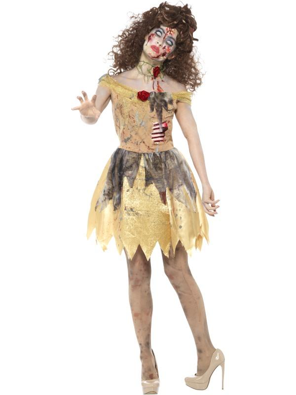 Halloween Sprookjes Kostuum.Zombie Gouden Sprookjes Kostuum