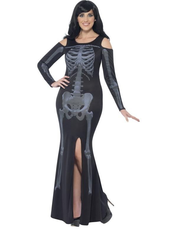 Halloween Kostuum Vrouw.Skeletten Halloween Kostuum Vrouw Plus Size