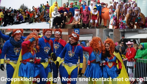 Carnavalskleding groepen 2ehands