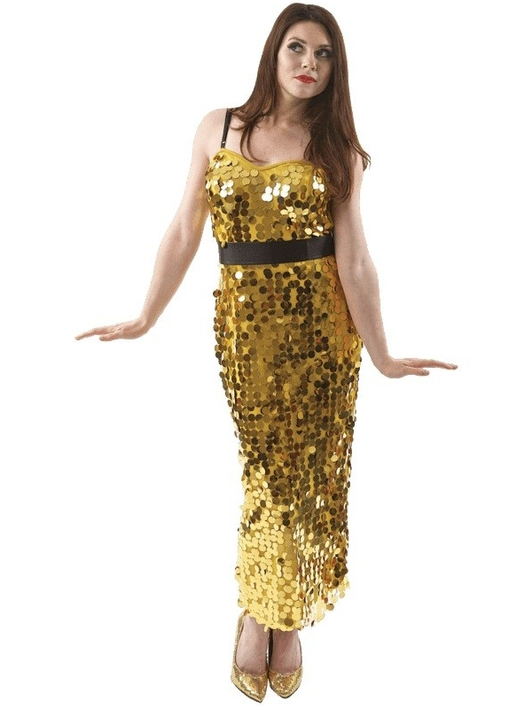 GOLD LEOPARD WRAP FRONT SHIFT MAXI DRESS - Maxi-jurk - gold.