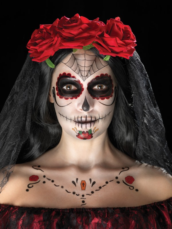 Day of the Dead Tatoeage en Schmink