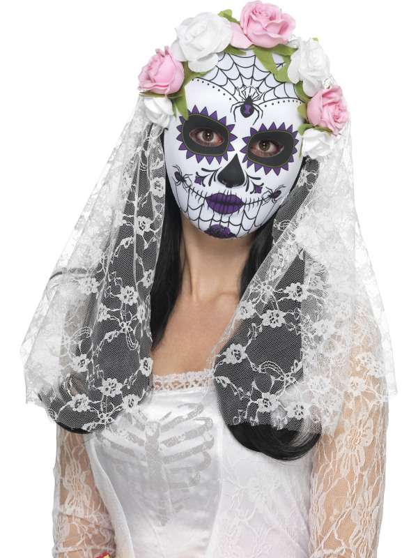 Day of the Dead Bruid Masker