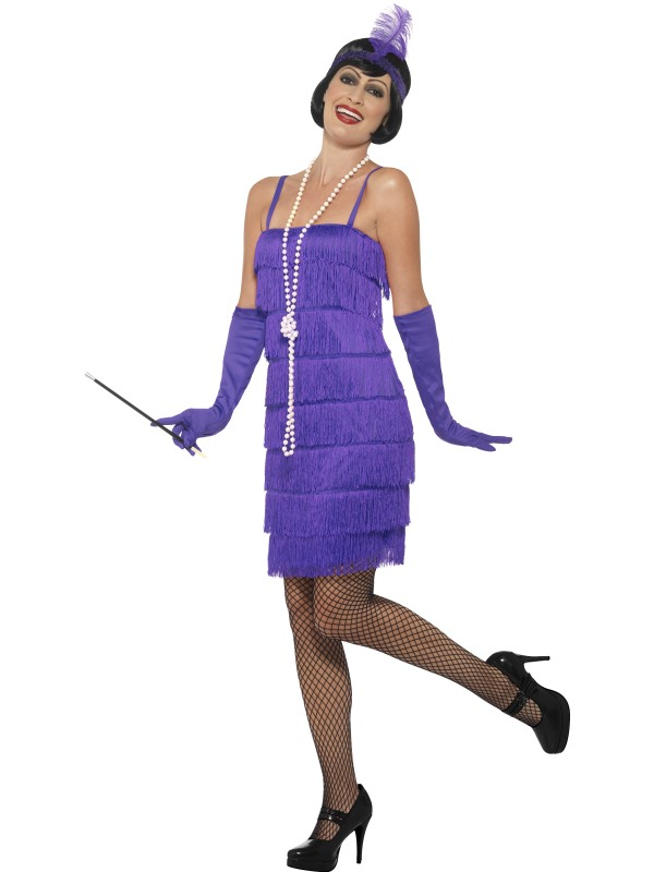 Paarse Flapper kleding