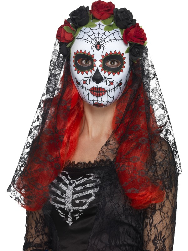 Day of the Dead Senorita Masker