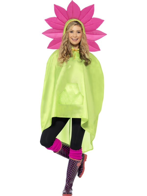 Flower Party bloemen Poncho