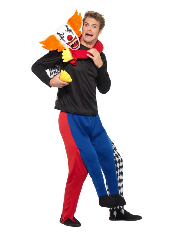 Gekipnapped door een clown kostuum