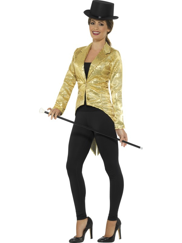 Glitter glamour Tailcoat Jacket Dames Goud