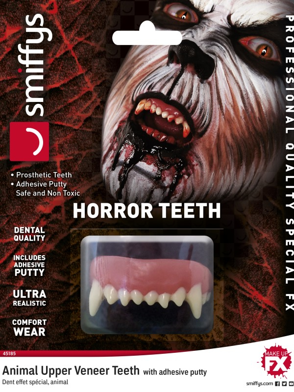 Horror Tanden Animal, with Upper Veneer Teeth