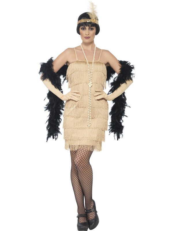 Flapper Dress Goud Kort