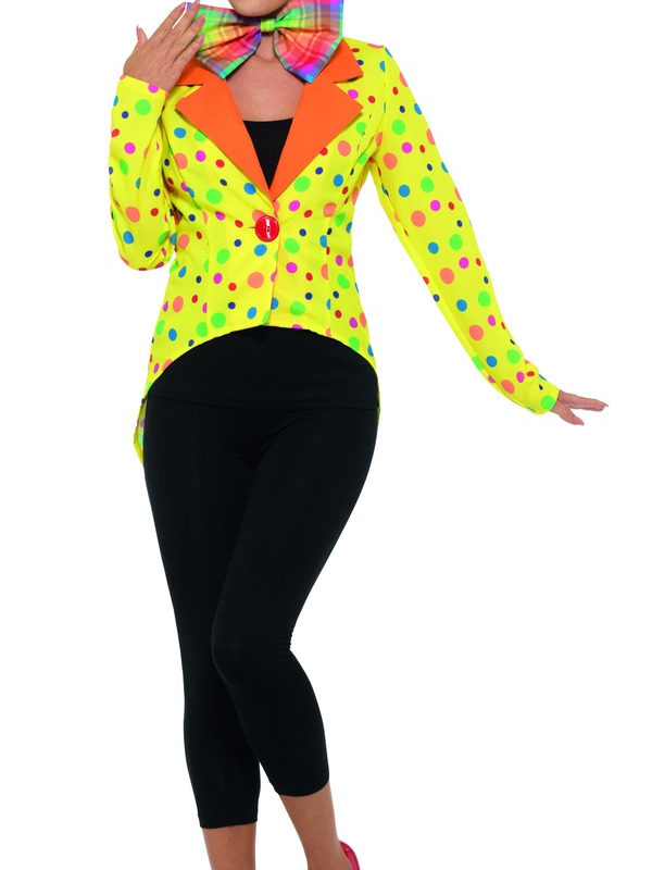 Colourful Clown Tailcoat Jacket, Dames