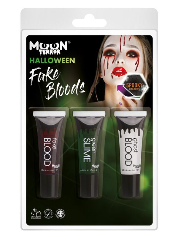 Mixed Fake Blood, Ghost Blood, Green Slime 10ml