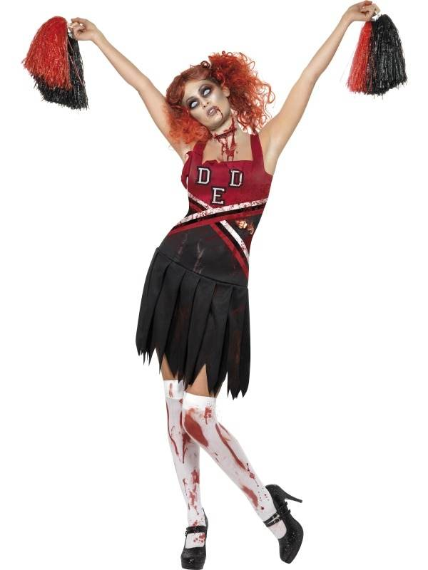 High School zombie Cheerleader Kostuum