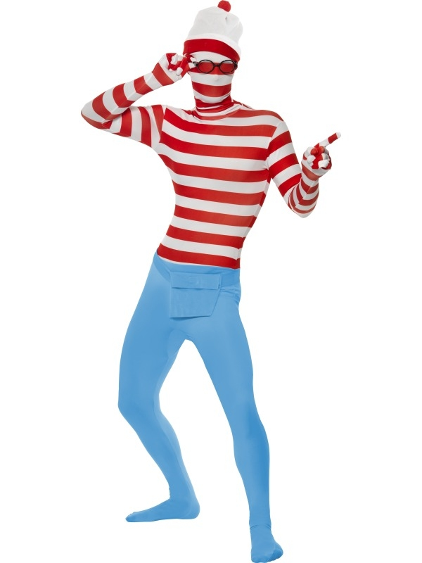 Where's Wally second skin Kostuum