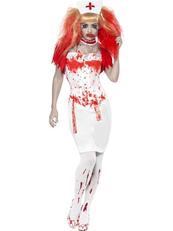 Enge Kostuums Halloween.Zombie Zuster Chirurg Kostuum