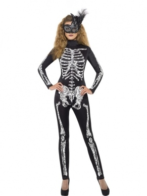 Sexy skelet catsuit