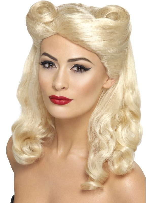 Pin Up girl Blonde Pruik