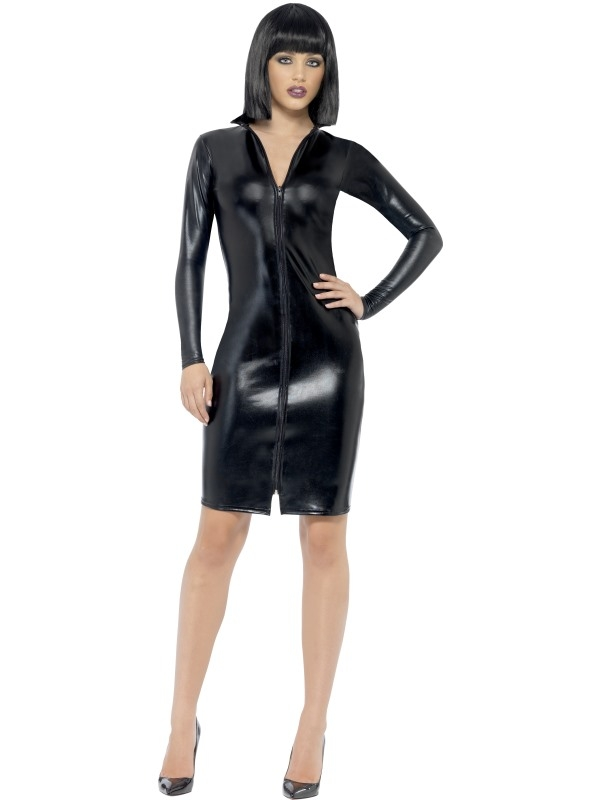 Sexy Whiplash Pencil Dress kostuum