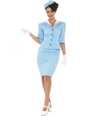Stewardess Dames kostuum