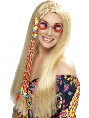 Hippie Party Pruik blond