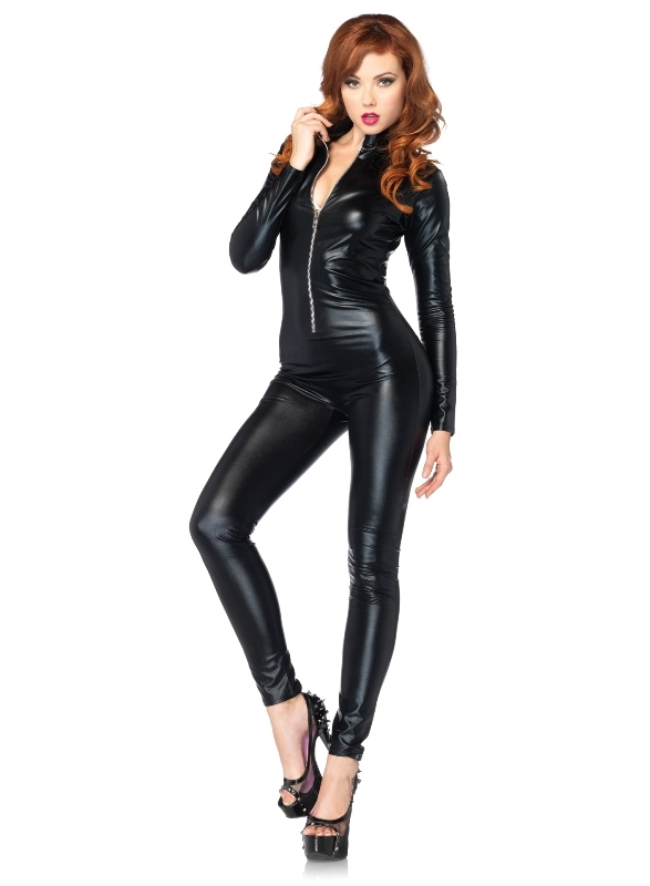 Sexy Wetlook Catsuit