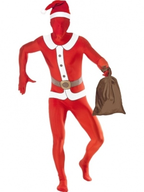 Kerstman morphsuit Second Skin