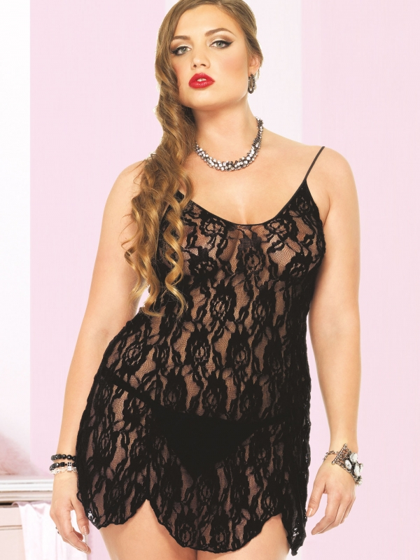 Rose Lace Flair Chemise