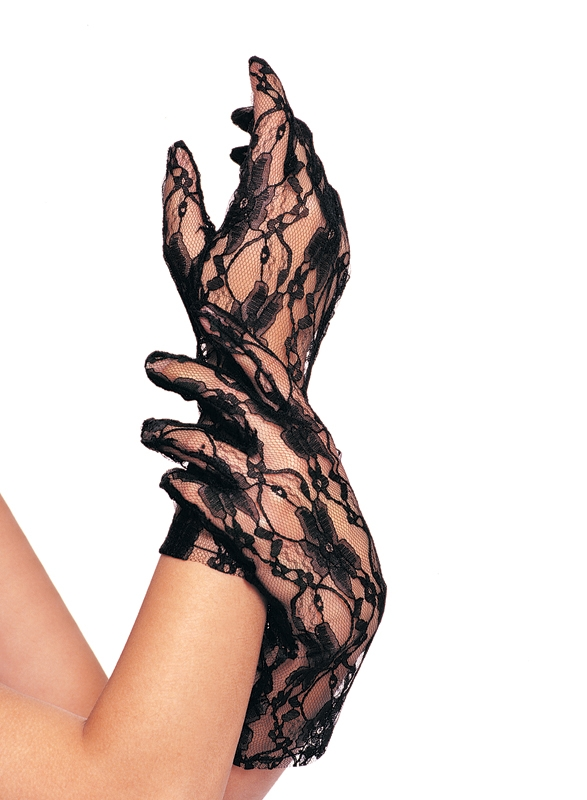 Lace Wrist Gloves Incl. 12 Pcs