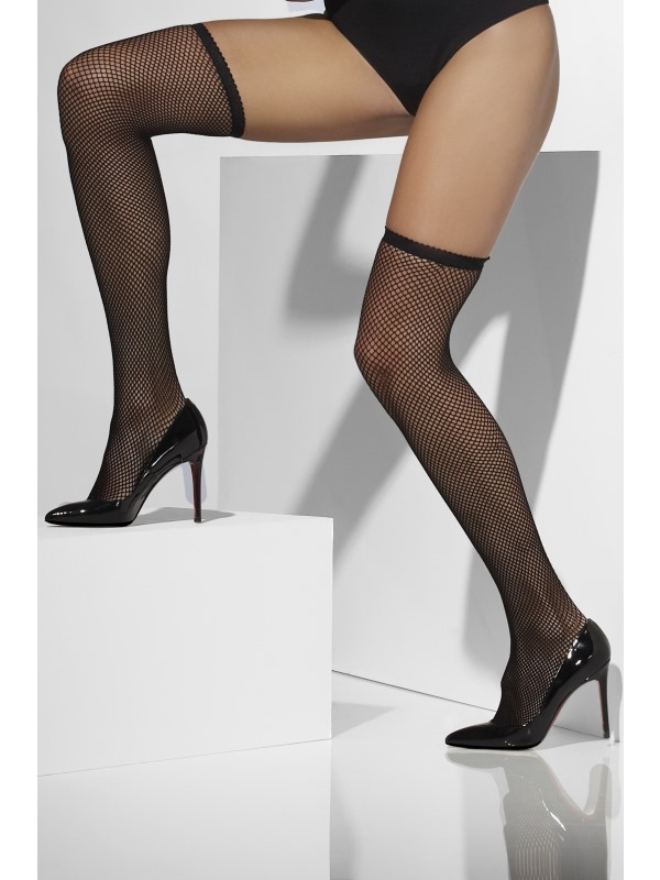Fishnet Hold-Ups zwart