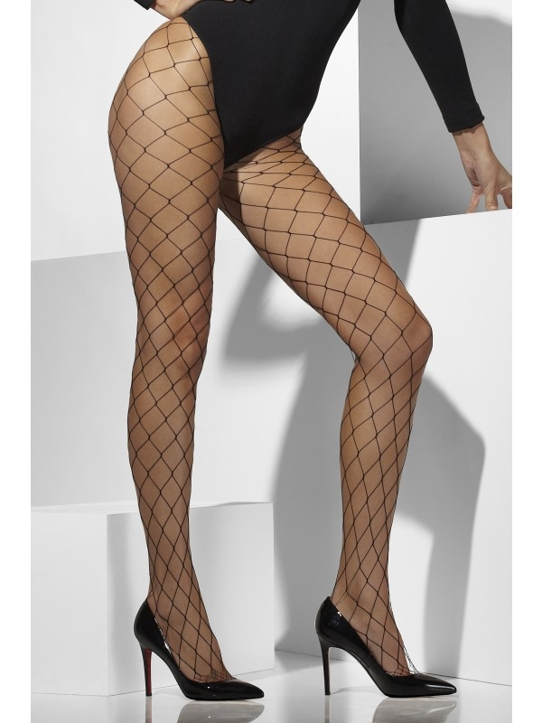Diamond Net Panty zwart